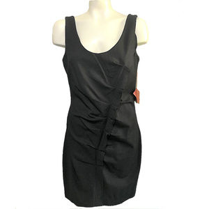 ALI RO Saks 5th Ave Black Ruched Stretch Dress NEW